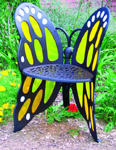 Charmant This Beautiful Butterfly Furniture Will Add A Functional, Elegant, Focal  Point In Your Home Or Garden. Classic Wrought Iron Design In Lighter, ...