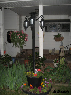 Expressions Solar Lamp Post And Planter